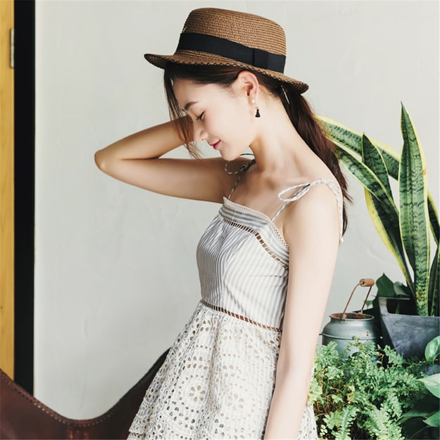 Product Detail - UNIQUEWHO Summer New Arrival Women Striped Midi Dress Holiday Beach Dresses S - image 0