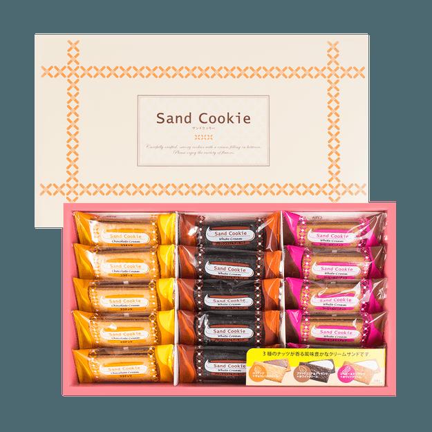 商品详情 - 日本NAKAYAMA中山制果 奶油夹心饼干 礼盒装 15枚入 491g - image  0