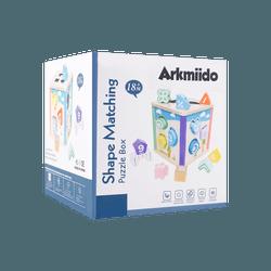 Arkmiido 儿童木制玩具 四面益智玩具盒 18月以上适用 YL-10