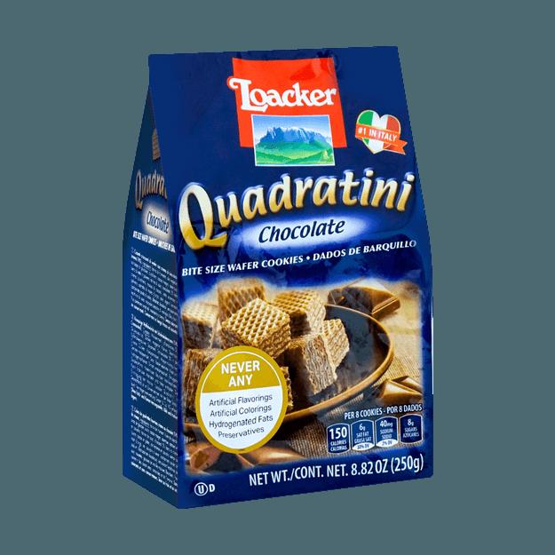商品详情 - 意大利LOACKER莱家 QUADRATINI 华夫小威化 巧克力味 250g - image  0