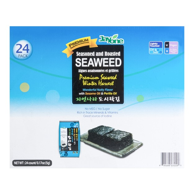 JAYONE Roasted & Lightly Salted Seaweed 24packs  120g