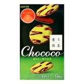 LOTTE Macha Chocolate Cookies 17pcs 98.6g