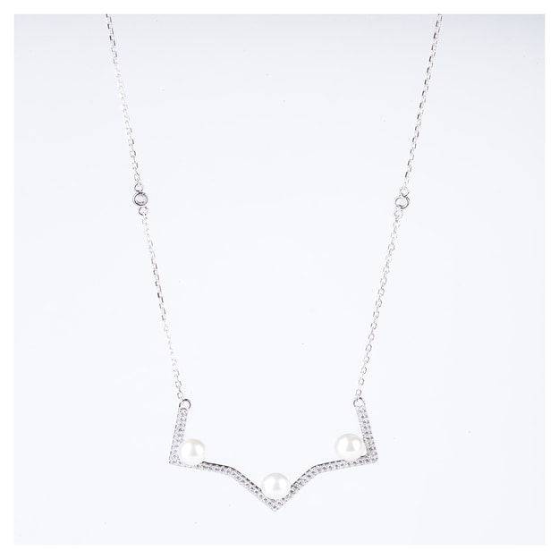 Product Detail - ARIEL Sterling Silver Multi Edges Pearl Necklace - image 0