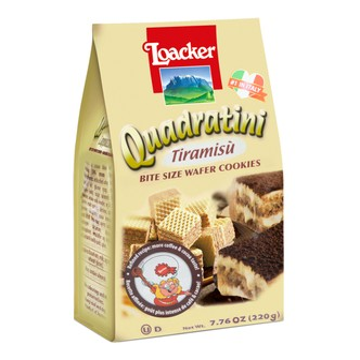LOACKER Quadratini Bite Size Wafer Cookies Tiramisu Flavor 250g
