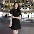ATTRANGS dress black (+7cm)M