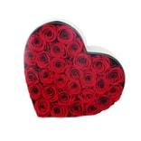 BLOSSOMING LOVE 经典透视开窗心形盒 红色
