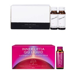 JAPAN POLA  Inner Liftier QQ Liquid 10pc×2 + Body Spot Whitening Liquid 10 Bottles×2