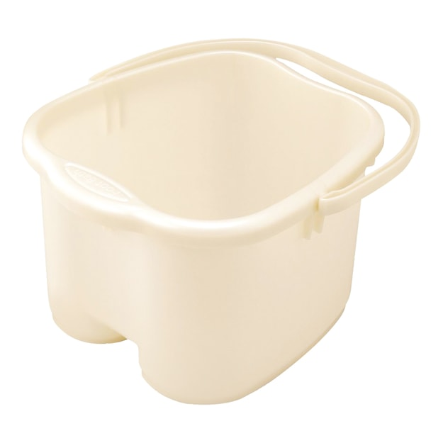 INOMATA Foot Detox Massage Bucket Pearl White