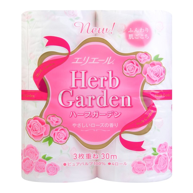 ELLEAIR Soft Toilet Paper Garden Rose 4rolls
