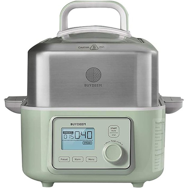 Product Detail - BUYDEEM G563 Electric Food Steamer one touch vegetable Steamer Green - image  0