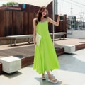 SSUMPARTY Sun Maxi Dress #Lime One Size(S-M)