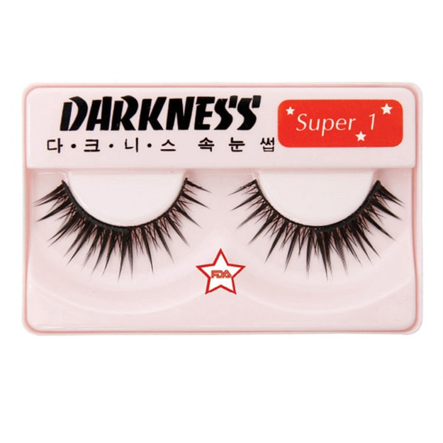 Product Detail - DARKNESS False Eyelashes  Super #1 1Pair In 1Box - image 0