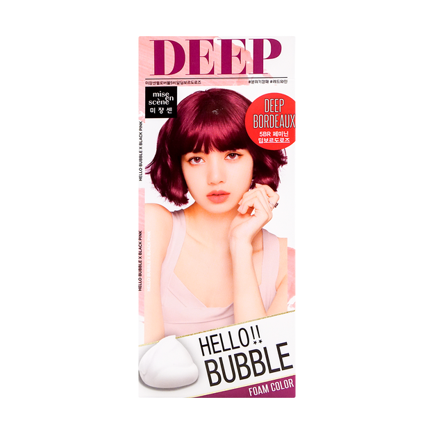 Product Detail - MISE EN SCENE Hello bubble Hair Foam Color Deep Bodeaux - image 0