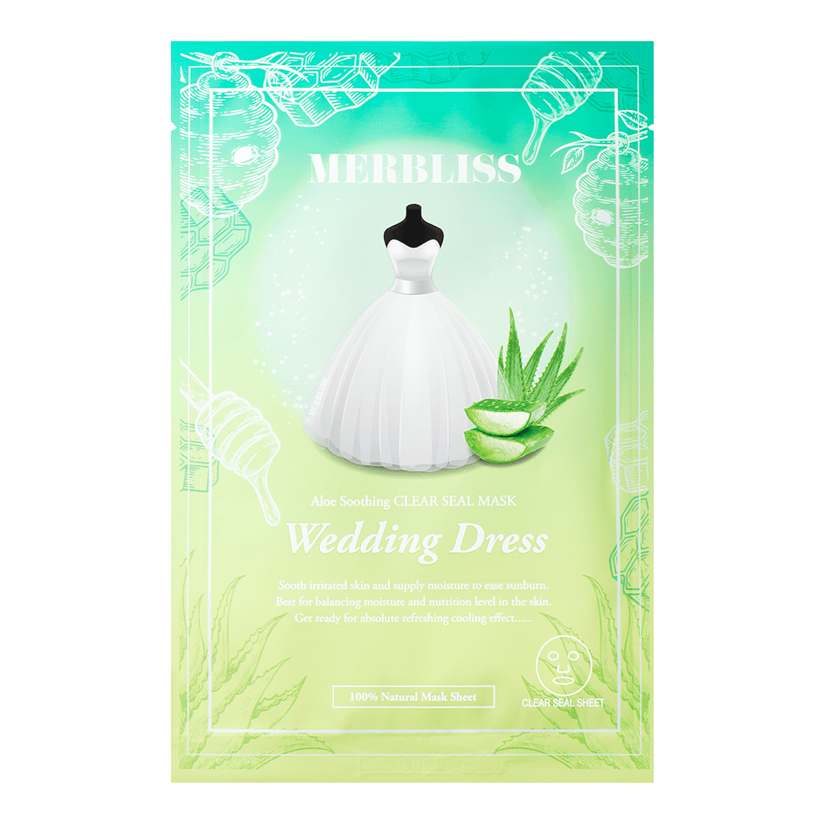 Yamibuy.com:Customer reviews:MERBLISS Wedding Dress Aloe Soothing Clear Seal Mask 1 Sheet