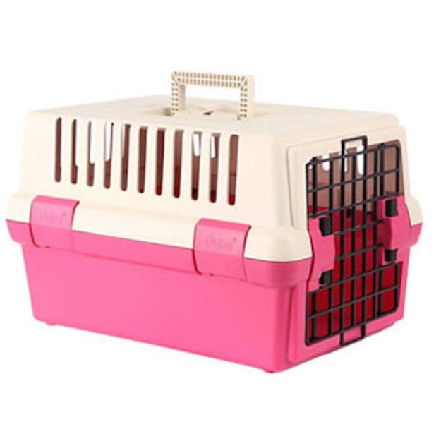 商品详情 - ALPHA DOG SERIES 宠物硬壳携带箱 #粉色 - image  0