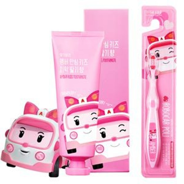 Product Detail - DAENGGIMEORI Amber Kids Toothpaste for children 100g (Strawberry) + Toothbrush - image 0
