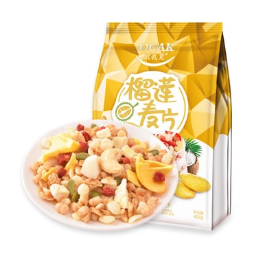 OCAK Durian Nuts Dry Snack Eat Fruit Cereal Meal Replacement Oatmeal 400g