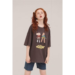 PROD HEY DUDE OVERSIZED T-SHIRT- CHARCOAL- XL