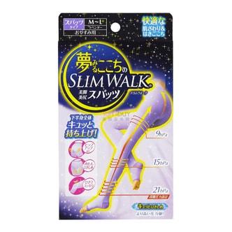 日本SLIM WALK 睡眠美腿连裤袜 紫色 M-L 1件入