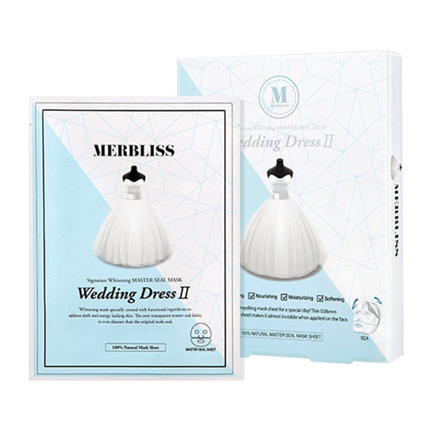 Product Detail - Korea MERBLISS Wedding Dress II Signature Whitening Master Seal Mask - image 0