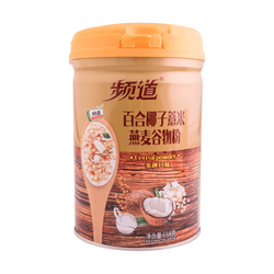 SHUANGJIEJINQUE Lily Coconut Glutinous Rice Oatmeal Cereal Powder (Canned) 558g
