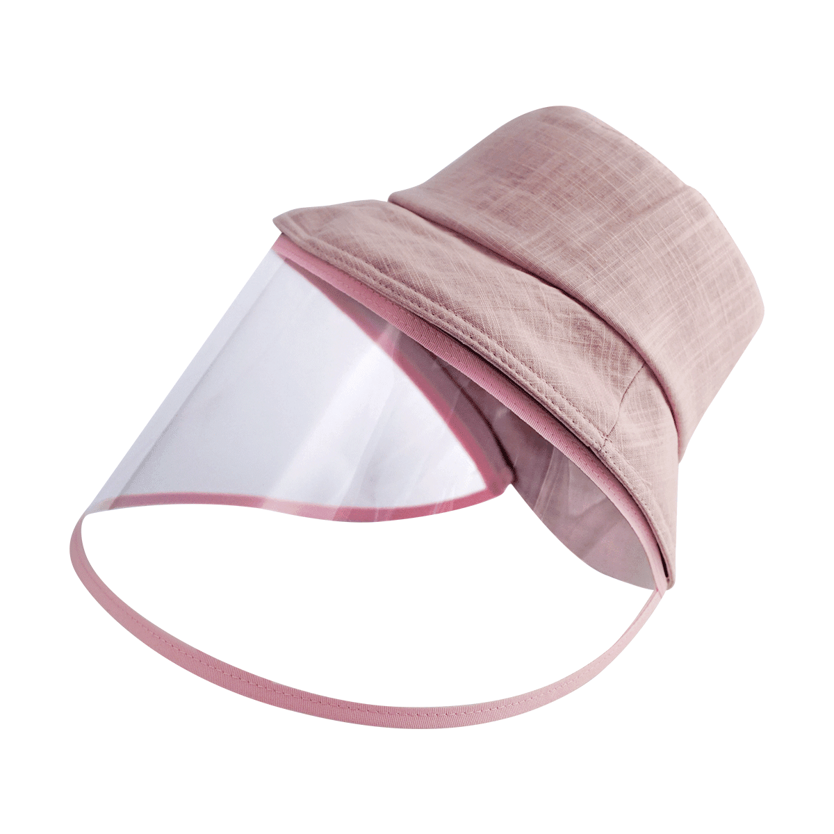 Yamibuy.com:Customer reviews:[Face Coverage] Sun Protection Fashion Hat with Detachable Transparent Face Cover #Hot Pink