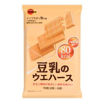 日本BOURBON波路梦 国产豆乳威化饼干 16枚入 107g