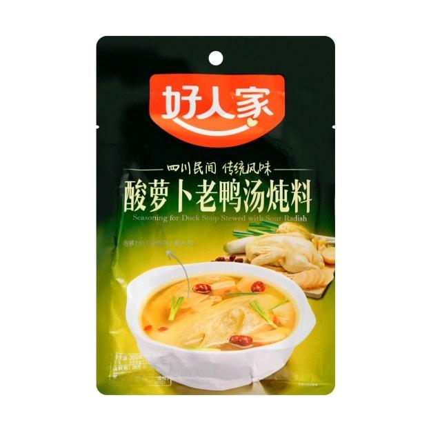 商品详情 - 好人家 酸萝卜老鸭汤炖料 350g - image  0