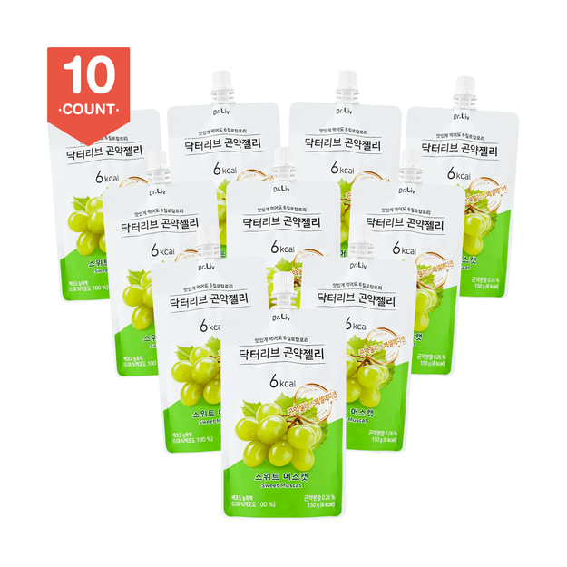 Product Detail - DR.LIV Konjac Jelly Sweet Muscat 150g x10 Packs - image 0