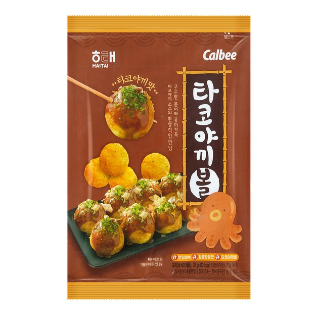 商品详情 - 韩国HAITAI海太 章鱼小丸子球 70g - image  0