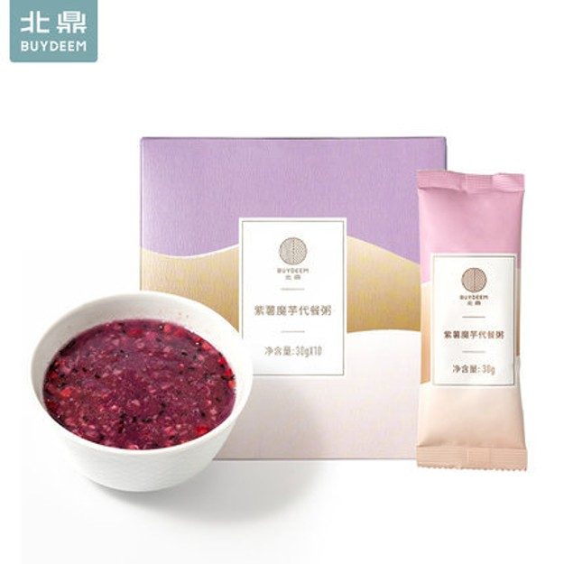 Product Detail - BUYDEEM purple sweet potato Meal Oatmeal 10 bags - image 0