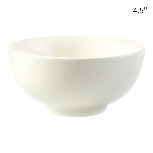 Product Detail - HEY BUNNY Easy Cleaning Ceramic Household Rice Bowl 1pc White 4.5 - image 0