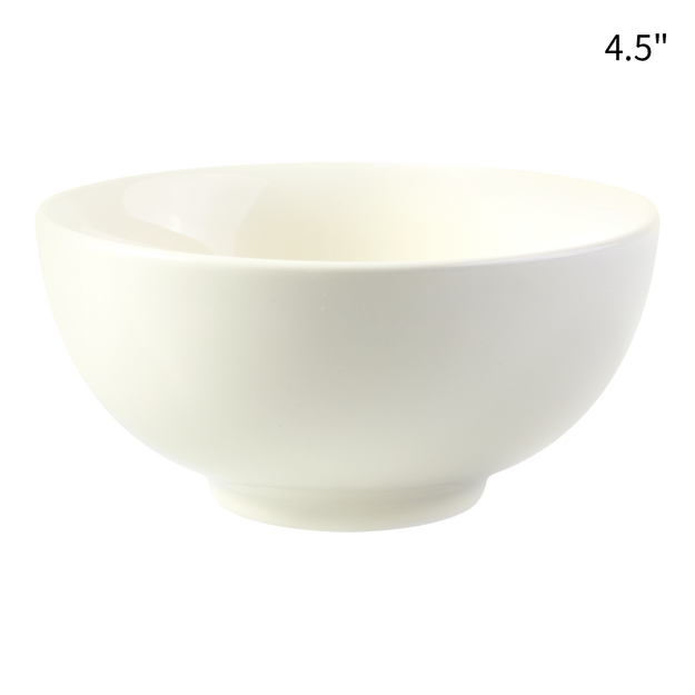HEY BUNNY Easy Cleaning Ceramic Household Rice Bowl 1pc White 4.5