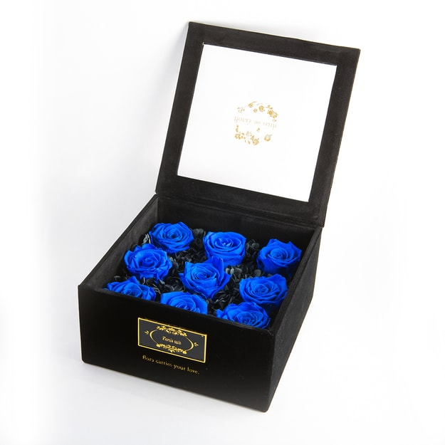Product Detail - FLORA\'S OATH Eternal T.C. Profound 9 Red Roses in Black Box - image 0