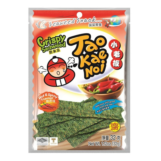 Product Detail - TAO KAE NOI Crispy Seaweed Hot & Spicy Flavor  32g (Random Packaging) - image 0