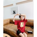 PRINSTORY 2019 Spring/Summer Healthy Fruit T-shirt Red