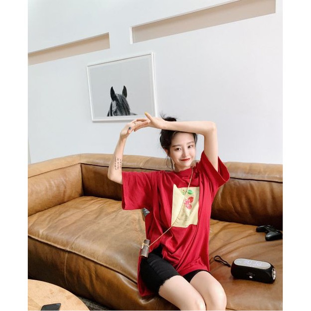 Product Detail - PRINSTORY 2019 Spring/Summer Healthy Fruit T-shirt Red - image 0