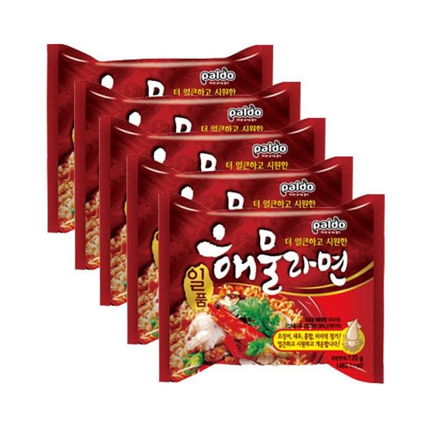 商品详情 - 韩国PALDO八道 御鲜章鱼海鲜拉面 5包入 - image  0