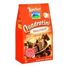LOACKER Quadratini Bite Size Wafer Cookies Hazelnut Flavor 250g