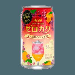 日本ASAHI朝日 无酒精碳酸饮料 红梅橘子口味 350ml
