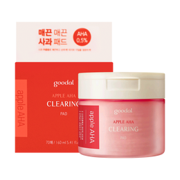 【全网最低】韩国GOODAL果达儿 APPLE AHA 苹果果酸嫩滑角质棉片 70片