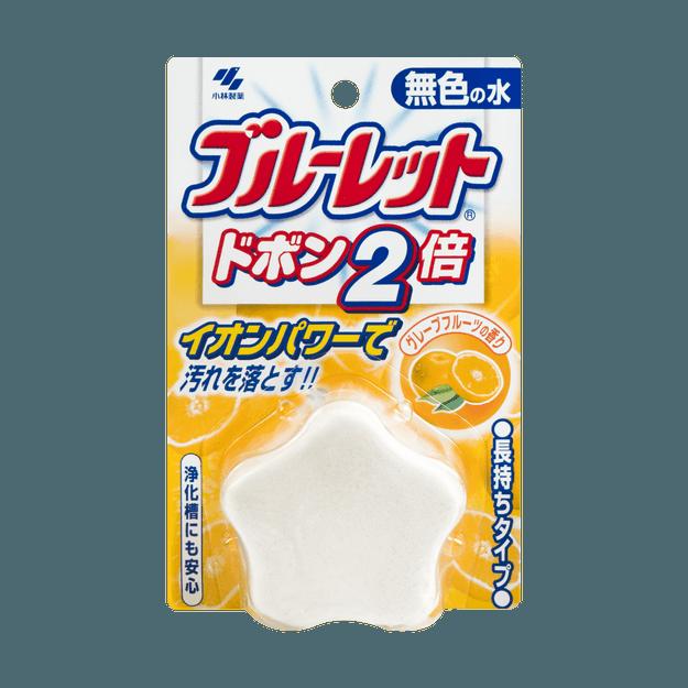 商品详情 - 日本KOBAYASHI小林制药 马桶水箱清洁除菌芳香剂 星星造型 无色 葡萄柚香 120g - image  0