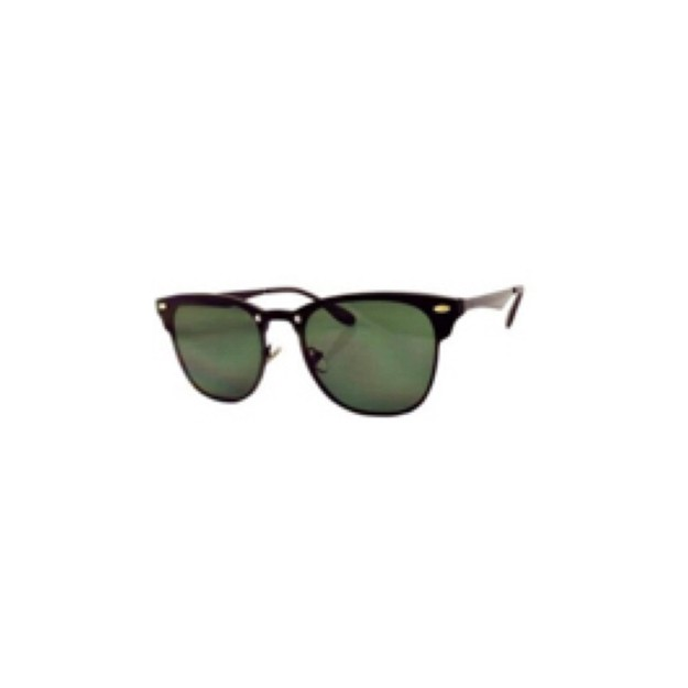 商品详情 - RETRO POP 时尚太阳镜 8185 黑色镜框/绿色镜片 - image  0