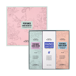 Perfumed Hand Cream + Sanitizer Set, 100ml*3pcs
