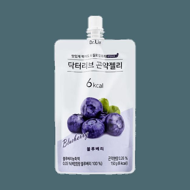 商品详情 - 韩国DR.LIV 低糖低卡蒟蒻果冻 蓝莓味 150g - image  0