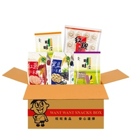 Taiwan WANT WANT Love Health Set Rice Crackers Red Yeast 652g