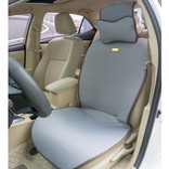水星家纺 舒适驾 亚麻灰 汽车坐垫(单人)