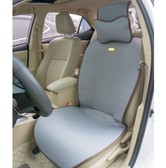 QBEDDING Soothing Drive Linen Gray Car Seat Cover (Front Seat)