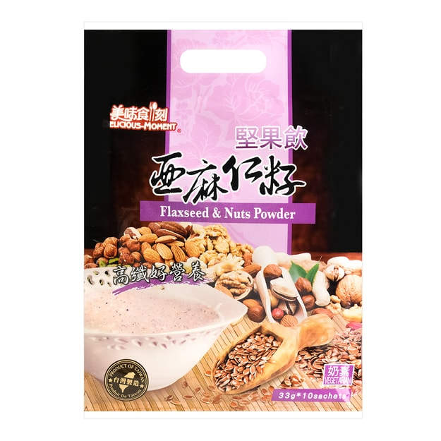 DELICOUS-MOMENT FlaxSeed& Nuts Powder 10pc 330g