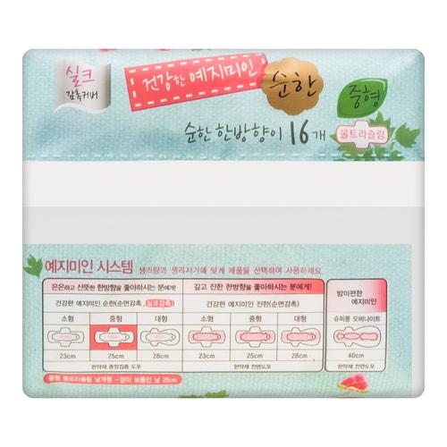 YEJIMIIN Sanitary Pads Silk Touch Mild 16Pcs Medium 25cm